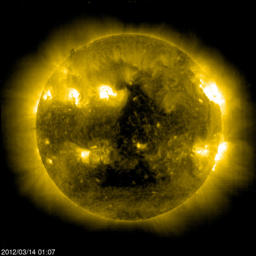 The March 14 2012 Triangle On The Sun